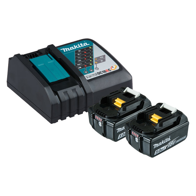 199179-3 - 18V Single Port Rapid Charger with 5.0Ah Batteries