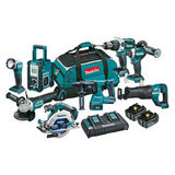 DLX8012PG - 18V Mobile Brushless 8 Piece Combo Kit