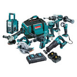 DLX8008PG - 18V Mobile Brushless 8 Piece Combo Kit