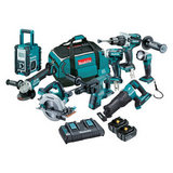 DLX8008PT - 18V Mobile Brushless 8 Piece Combo Kit